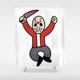 Excited Jason Shower Curtain