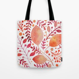 Autumn leaves - orange and red Tote Bag