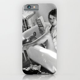 Kate Moss Reading in Bathtub, Fashion art, Fashion Print, Gifts for Her, Style, iPhone Case