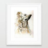 jake Framed Art Prints featuring Jake by Victoria Richards