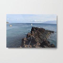 cliff jump Metal Print
