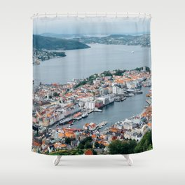 Bergen Norway From ABove Shower Curtain