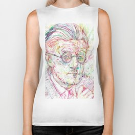 JAMES JOYCE portrait Biker Tank