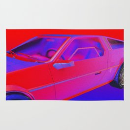 RED/BLUE CAR Rug