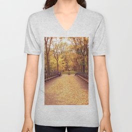 That Autumn Feeling - Autumn in New York Unisex V-Neck