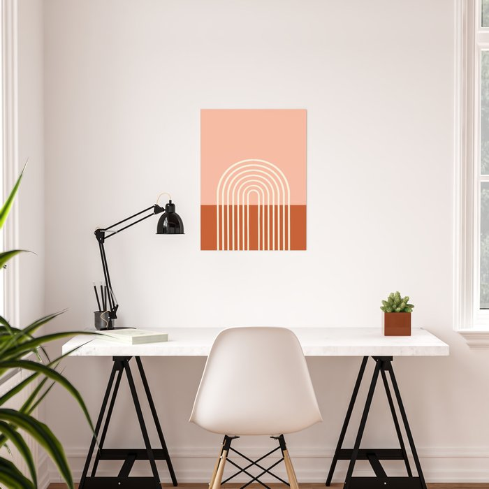 Terracota Pastel Poster
