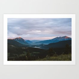 Sunset over Crested Butte Art Print