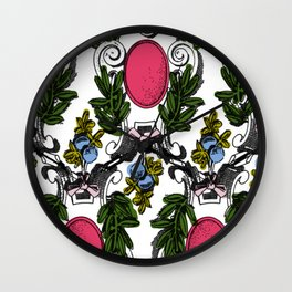 Corinthian Grapes Wall Clock