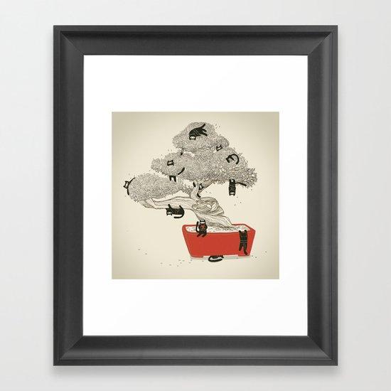 Bonsai cats Framed Art Print