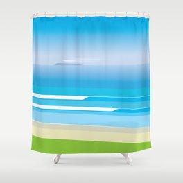 Sunny Beach — View from Omanu Beach Shower Curtain