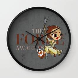 Rey The Force Awakens Wall Clock