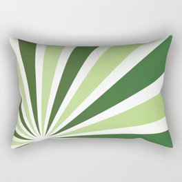 GREEN SUNBURST Abstract Art Rectangular Pillow
