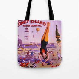 Vintage Coney Island Water Carnival Tote Bag