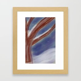 An Abstract Winter Framed Art Print