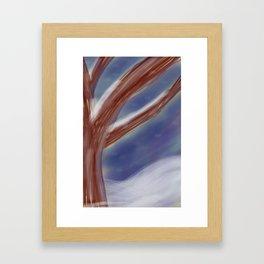 An Abstract Winter Framed Art Print