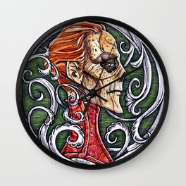 Red Death - coloured variant Wall Clock