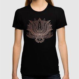 Botanical Lotus - Rose Gold T-shirt