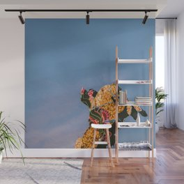 Cowboy on Horse Neon Sign Wall Mural