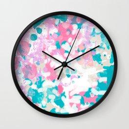 Shaz - abstract painting minimal modern color palette boho nursery home decor Wall Clock