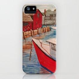Motif Number 1 at Rockport Harbor iPhone Case