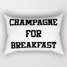 Champagne For Breakfast Rectangular Pillow