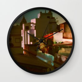 Summer in the cit Wall Clock