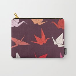 Japanese Origami paper cranes sketch, symbol of happiness, luck and longevity Carry-All Pouch