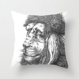 Smiling Lion Throw Pillow