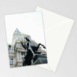 Philadelphia City Hall with Horse Statue Stationery Cards