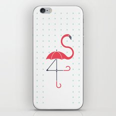 The Pink Umbrella iPhone & iPod Skin