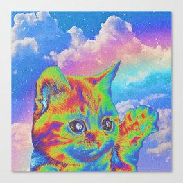 Rainbow Kitten Canvas Print