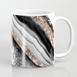 Agate Gold Glitter Glam #1 #gem #decor #art #society6 Coffee Mug