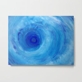 Blue Vortex Metal Print