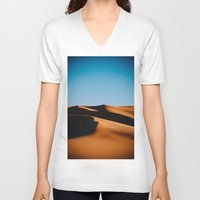 morocco V-neck T-shirts featuring Sahara Desert, Morocco by Petrichor Photo