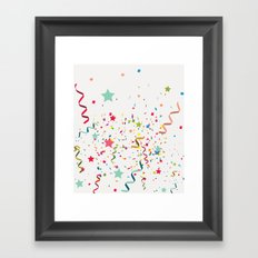 Wishes as Confetti / New Years Confetti. Framed Art Print
