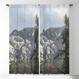 Mountains Through The Forest - Nature Photography Blackout Curtain