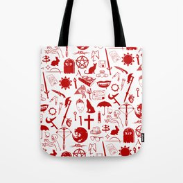 Buffy Symbology, Red Tote Bag