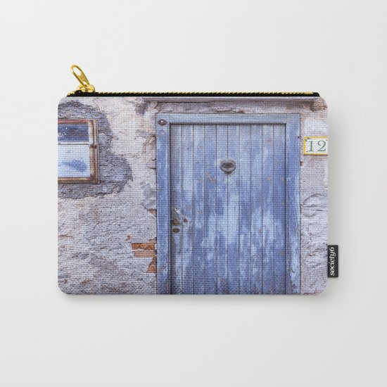 Old Blue Italian Door Carry-All Pouch
