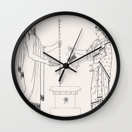Libation from An  of the Egyptian Grecian and Roman costumes by Thomas Baxter (1782-1821) Wall Clock
