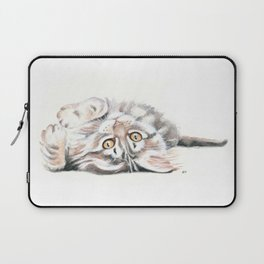 Cute Maine Coon Kitten Playing Laptop Sleeve