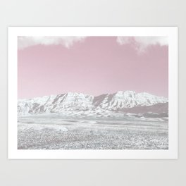 Mojave Snowcaps // Las Vegas Nevada Snowstorm in the Red Rock Canyon Desert Landscape Photograph Art Print