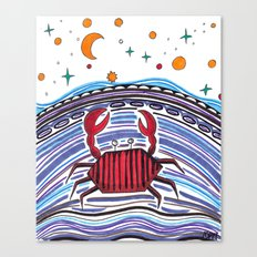 Crabby Crab Canvas Print