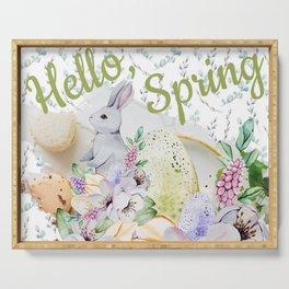 Hello Spring Pastel Design #society6 #buyart Serving Tray