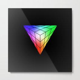Triangle vs. Cube Metal Print