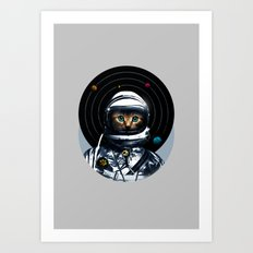 Space Kitten Art Print