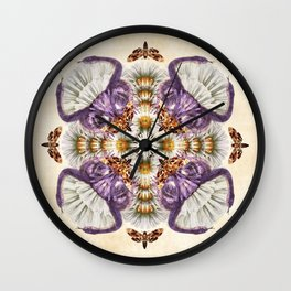 Deadly Daisies Wall Clock
