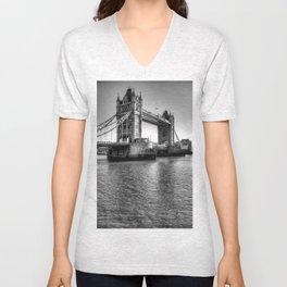 Tower Bridge, London Unisex V-Neck