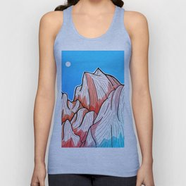 The red and blue tipped mountains Unisex Tank Top