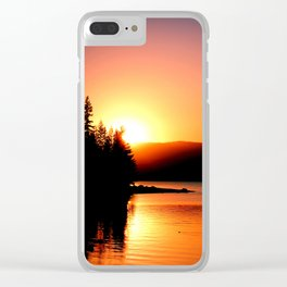 Sunset Silhoette Clear iPhone Case