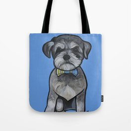 Gus the schnauzer mix Tote Bag